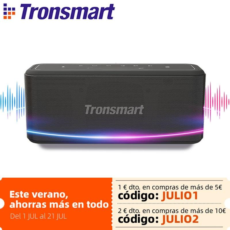 Tronsmart Mega Pro سمّاعات بلوتوث 60 واط قابل للنقل مكبر صوت قاروس معزز عمود مع NFC, IPX5 مقاوم للماء, مساعد صوت