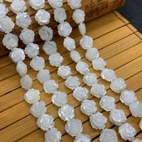 rose shape natural freshwater shell white double sided flower beads diy making exquisite necklace bracelet accessories wholesale