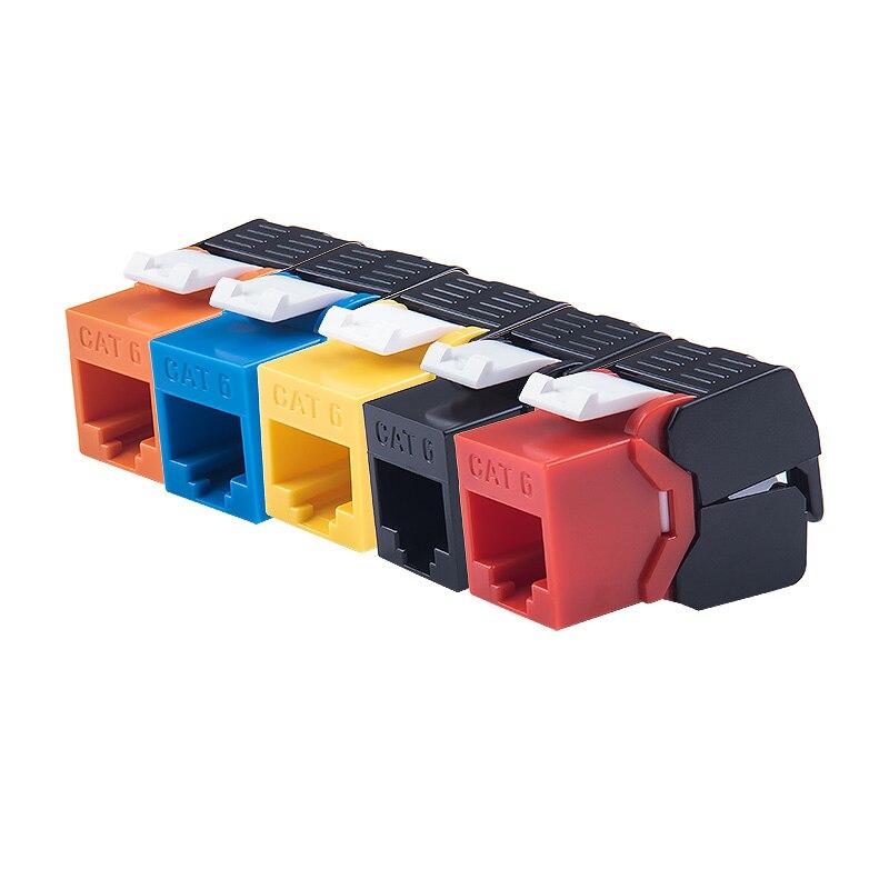 Модули Сетевые цветные Keystone jack, Gigabit Ethernet RJ45 CAT6, сетевые модули сетевого типа без инструментов, 7 цветов на выбор