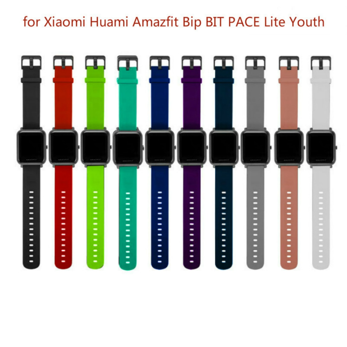 Умные часы, аксессуары для Xiaomi Amazfit Bip, умные часы 20 мм, Молодежные спортивные умные часы, наручные часы, силиконовый ремешок
