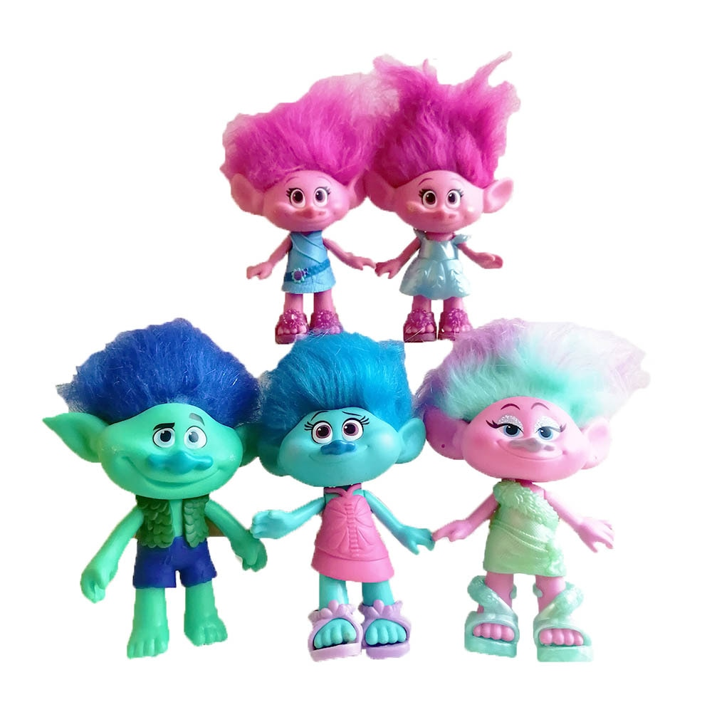 Trolls Original Troll Doll Figures Branch Action Figure Toy Figure Trolls Poppy Toys Children Toy 4pcs magic hair elf trolls ugly baby troll bobby princess base model toy car decoration ornaments