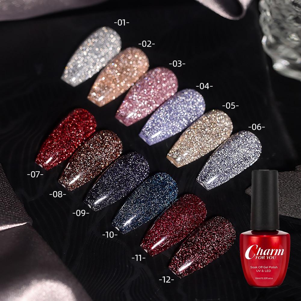 10ml Explosion Glitter Diamond Glue 2021 New Nail Art Crystal Diamond Bundi Powder Gel Nail Polish M