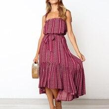 المرأة طباعة ريترو ماكسي فستان الصيف النساء أكمام نادي الحفلات فستان مناسبات مثير خمر عالية الخصر شاه Vestido