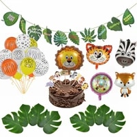 animal foil balloons jungle theme party safari party decoration kids birthday baby shower wedding balloons zoo party supplies