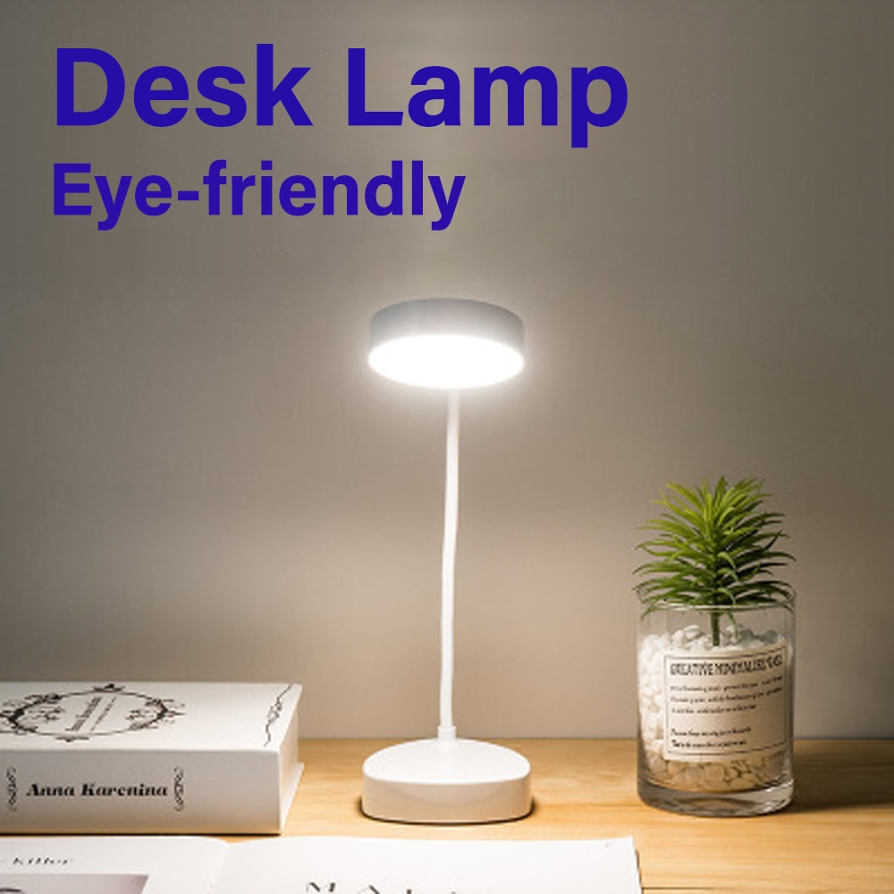 LED Table Lamp Eye Protection Friendly  Dimmable Light Rechargeable Bendable Desk Working Reading Study