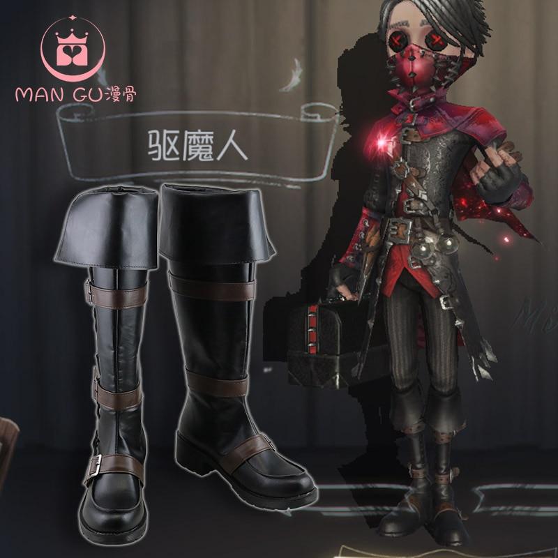 عرض ساخن حذاء ذو هوية لعبة على شكل حرف V إيسوب كارل حذاء من الجلد الأسود ذو تأثير خارجي للحفلات حذاء به دور مستخدم