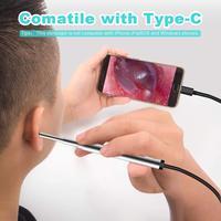 3,9 мм Мини медицинская эндоскопическая камера водонепроницаемый USB эндоскоп Инспекционная камера для OTG Android телефон ПК ухо бороскоп для нос...