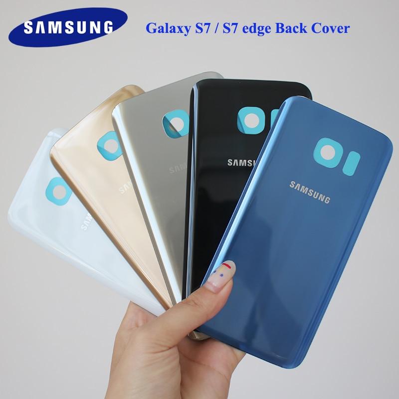 SAMSUNG Galaxy S7 G930F S7 EDGE G935F Back Glass Battery Cover Samsung S7/S7 edge Rear Door Housing