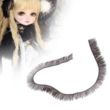 2pcs Doll Accessories Drawing False Eyelashes Black Brown 20cm Length Eyelashes DIY Simulation Toy F