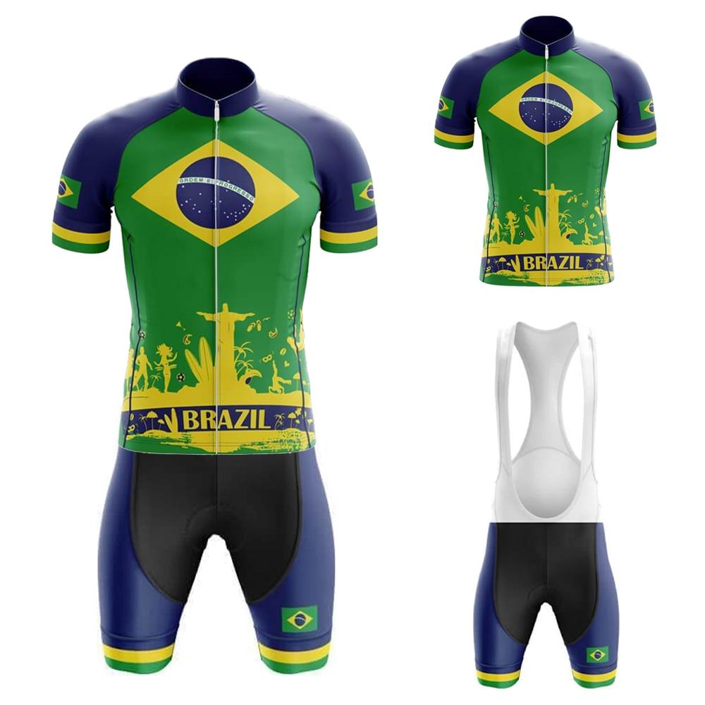 Brasil verano Ciclismo Masculino bibers De Jersey De Ciclismo Gel transpirable Pad...