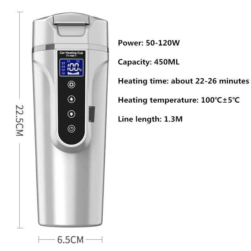 Hervidor De Agua eléctrico para calefacción De coche, Hervidor De temperatura De...