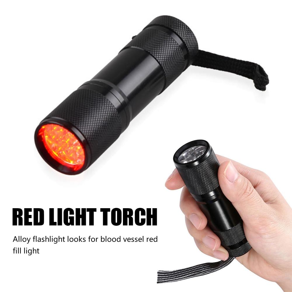 Red LED Flashlight Infrared Vein Imaging 625nm Red Light 9 LED Torch Vein Finder For Nurses Caregivers Clinicians handheld vein finder vein locator infrared vein viewer localizador de venas