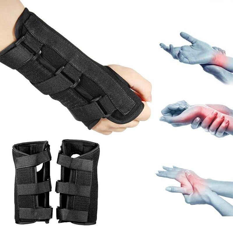 Síndrome del túnel carpiano de la muñeca almohadillas de soporte Brace esguince férula para el antebrazo Correa Protector SEC88
