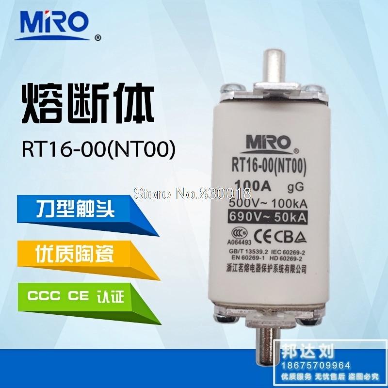 MRO Mingrong RT16-00 NT00 10A 16A 20A 32A 50A 63A 80A 100A 125A 160A ntoo RT20 RT36-20PCS/lote