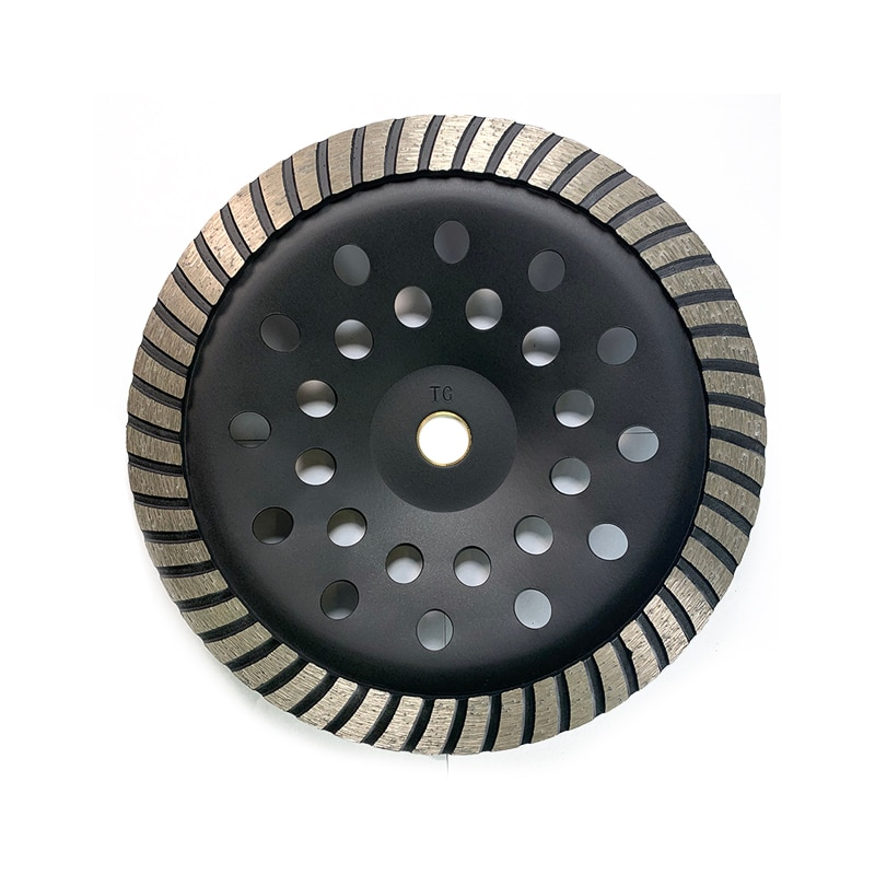 Black 230MM Diamond Wheel Turbine Non-linear Processing Cutting Disc Wheel Suit For Working With Granite Marble Tiles Machining