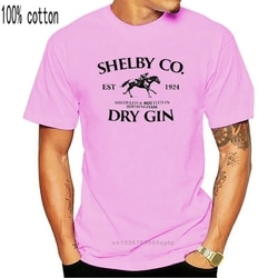 Shelby gin company-peaky t-shirts-impressão masculina t camisa masculina de manga curta impressão quente t camisa masculina de manga curta
