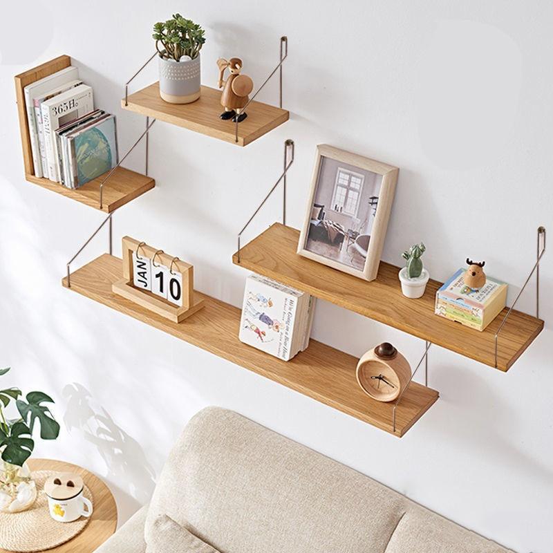 Деревянные настенные полки для гостиной, 3 шт., декоративный стенд для цветочного горшка, книжного шкафа, полка для хранения в ванной, на кухн...