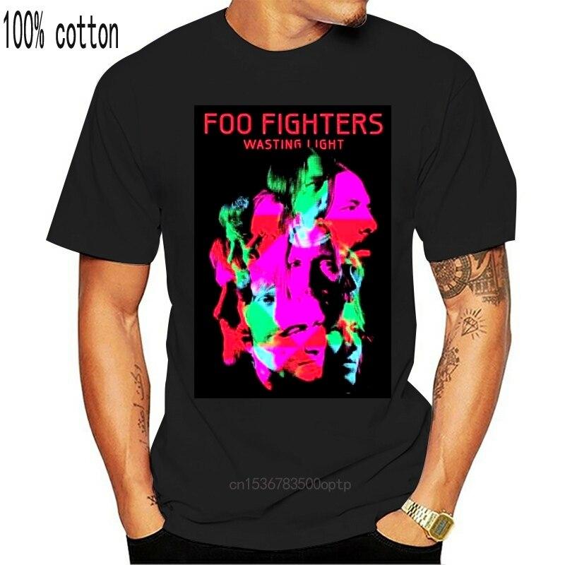 Marke Neue Foo Kämpfer Verschwenden Licht Rock Band Graphic Baumwolle Schwarz T-Shirt S-XL