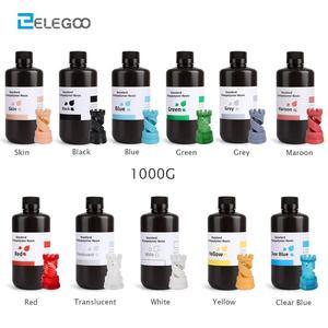ELEGOO 3D Printer Resin LCD UV-Curing Resin 405nm Standard Photopolymer Resin for LCD 3D Printing 1000ml Black Grey White Skin