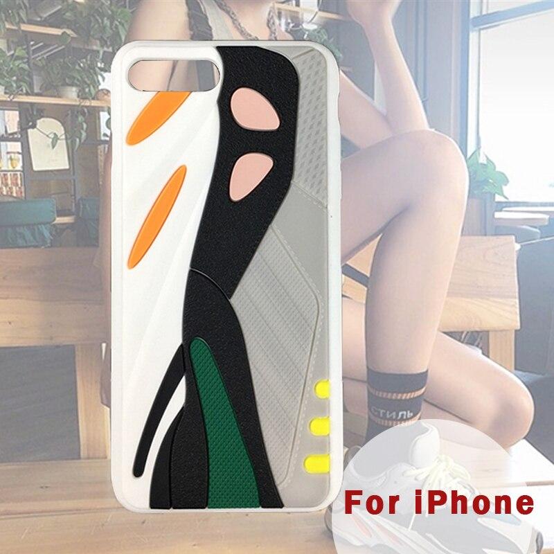 Nouvelle bonne qualité mode 3D noix de coco chaussures étui de téléphone dur pour Iphone 11 coureur sport couverture de téléphone Mobile