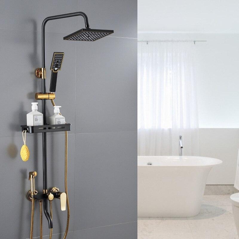 الحمام الضغط دش الحائط مجموعة الحمام ، مجموعة دش المنزلية ، صنبور ساخن وبارد ، دش رئيس ، دش