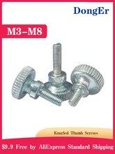 GB834 M3 M4 M5 M6 M8 M10 tête moletée vis moletée à la main serrer les vis de verrouillage du mur rideau DIN464 B056