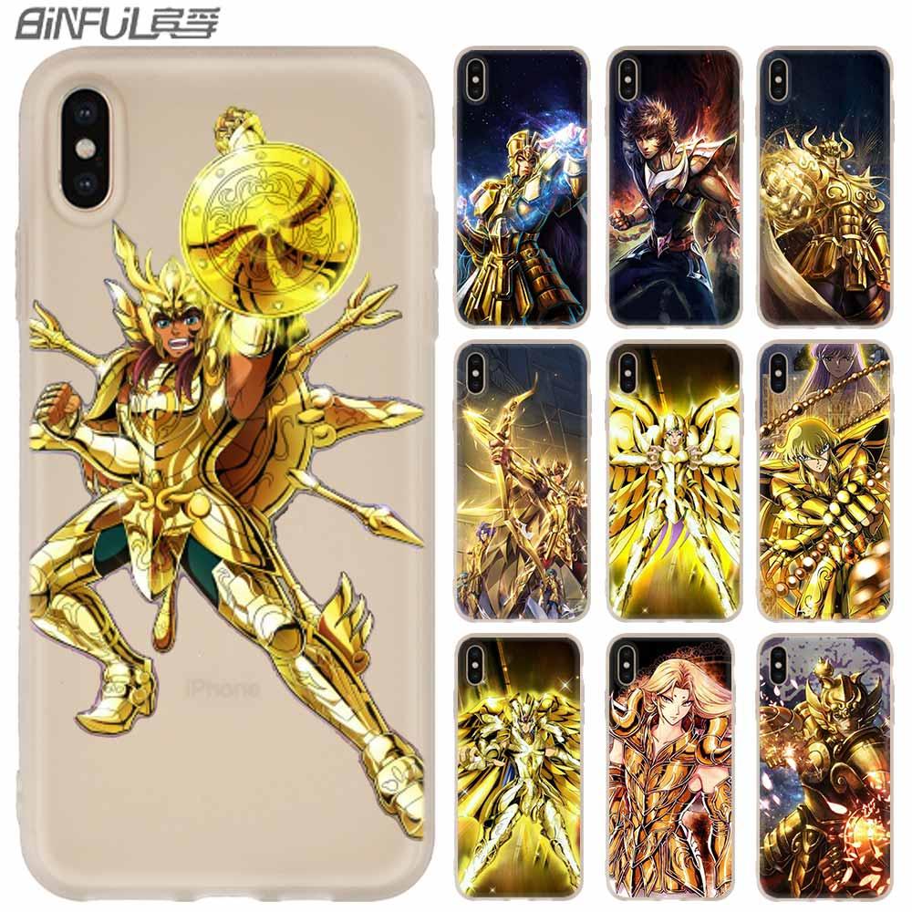 Weiche Abdeckung Telefon Fall Für iPhone 11 Pro Max X XS Max XR 5 5S SE 6S 6 4 4S 7 8 Plus Japanischen anime Saint Seiya