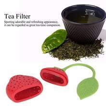 3 Pcs Fruit-Shaped Tea Strainer Silicone Tea Filter Kitchen Gadget for Home Tea Infuser Kitchen Supplies