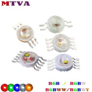 High Power LED Chip RGB / RGBW 3W10W20W30W50W100W Red Green Blue White Yellow Diode 3 10 20 30 50 100 W Watt COB for Lamp Light