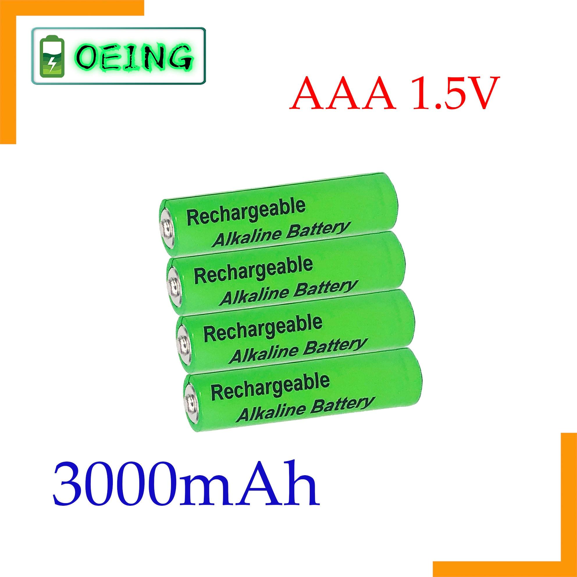 Pilas alcalinas AAA de 3000mah y 1,5 V, pilas recargables AAA para...