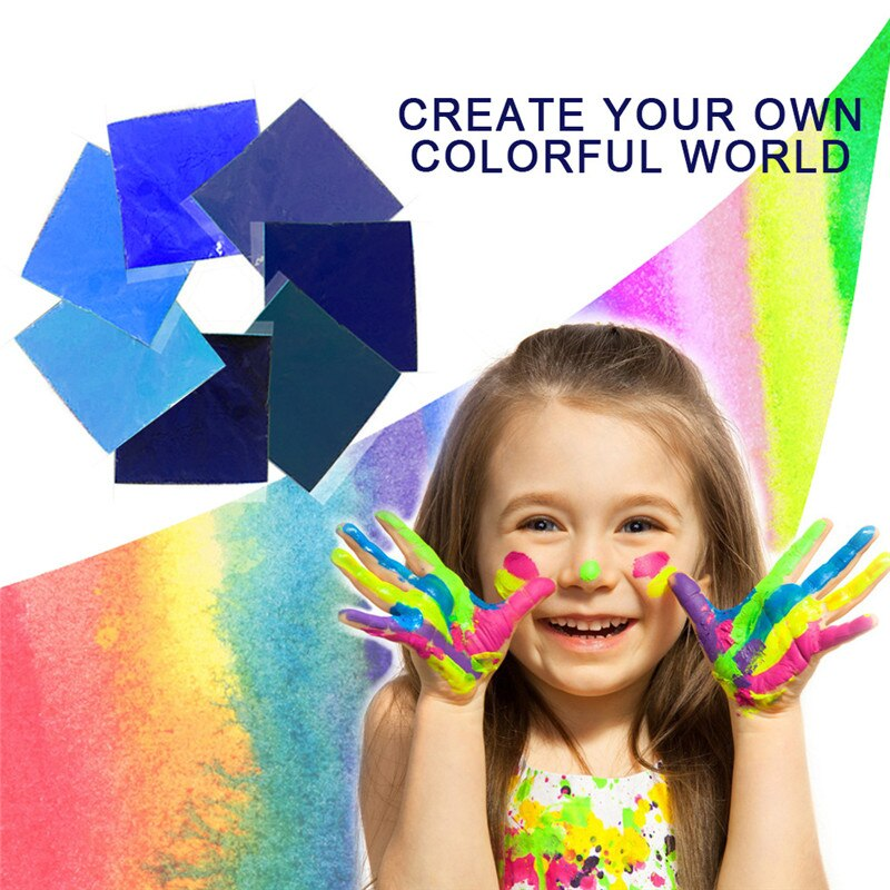 Kit de tintura DIY, ropa de Graffiti, tela de ropa colorida, pintura textil, pigmento en polvo teñido, conjunto azul/morado 7 Uds