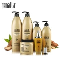 6pcs superior professional natural treatment moisturzing dry anti itching and smooth armalla moroccan argan oil hair care set