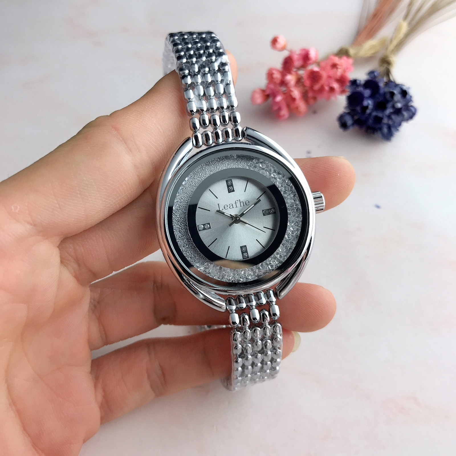 Hot Sell Fashion Silver Gold Stainless Brand Women's Watch Diamond Ladies Quartz Watches Female Clock Montre Femme Relogios enlarge