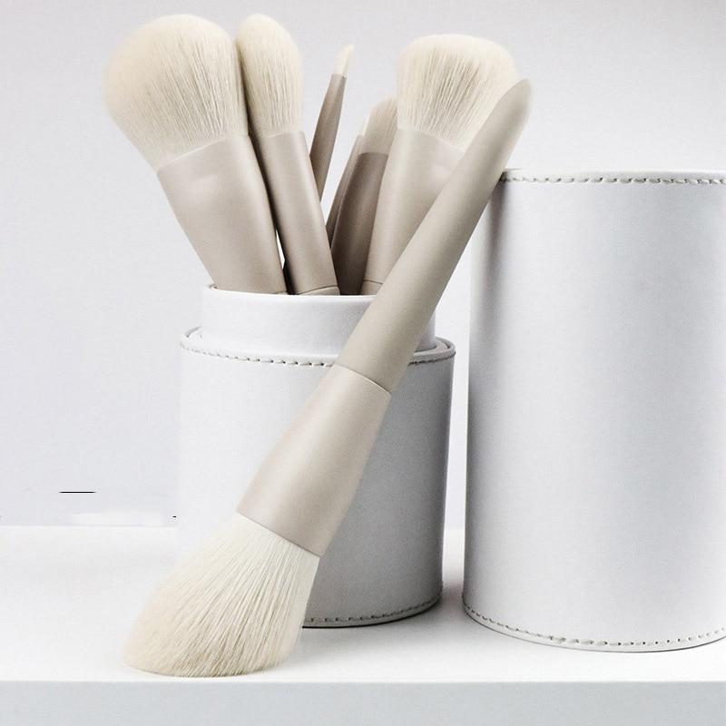 10 Gray And White Makeup Artist Makeup Brush Set Custom Eye Shadow Brush Loose Powder Makeup Makeup