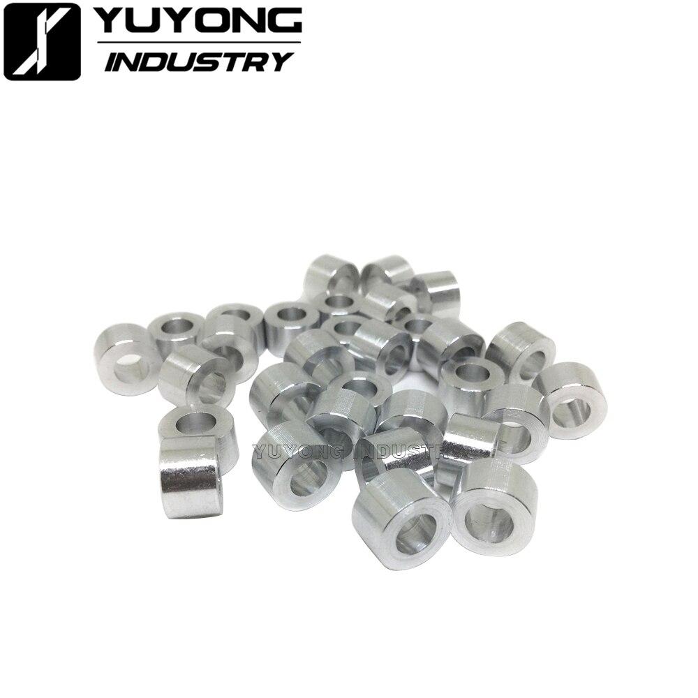 1000 unids/lote al por mayor espaciador de aluminio M5 3mm/1/8 mm/6mm/1/4 mm/7mm/8mm/9mm espaciador de aluminio para openbuilds