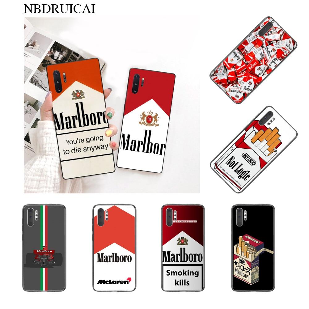 NBDRUICAI cigarrillo de hierba fumar Protector de la cubierta de la caja del teléfono para Samsung nota 3 4 5 6 7 8 9 10 pro A7 2018 A10 A40 A50 A70 J7 2018