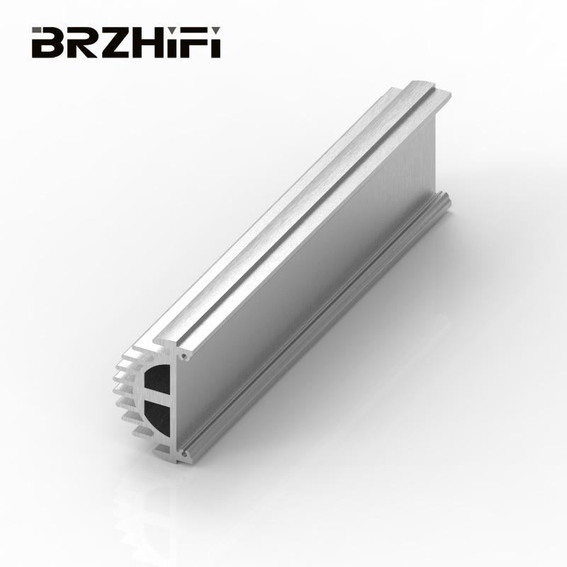 BRZHIFI 6061 بأكسيد الألومنيوم مقذوف الشخصي مكبر كهربائي تبديد الحرارة لوحة جانبية مع لون مخصص وطول