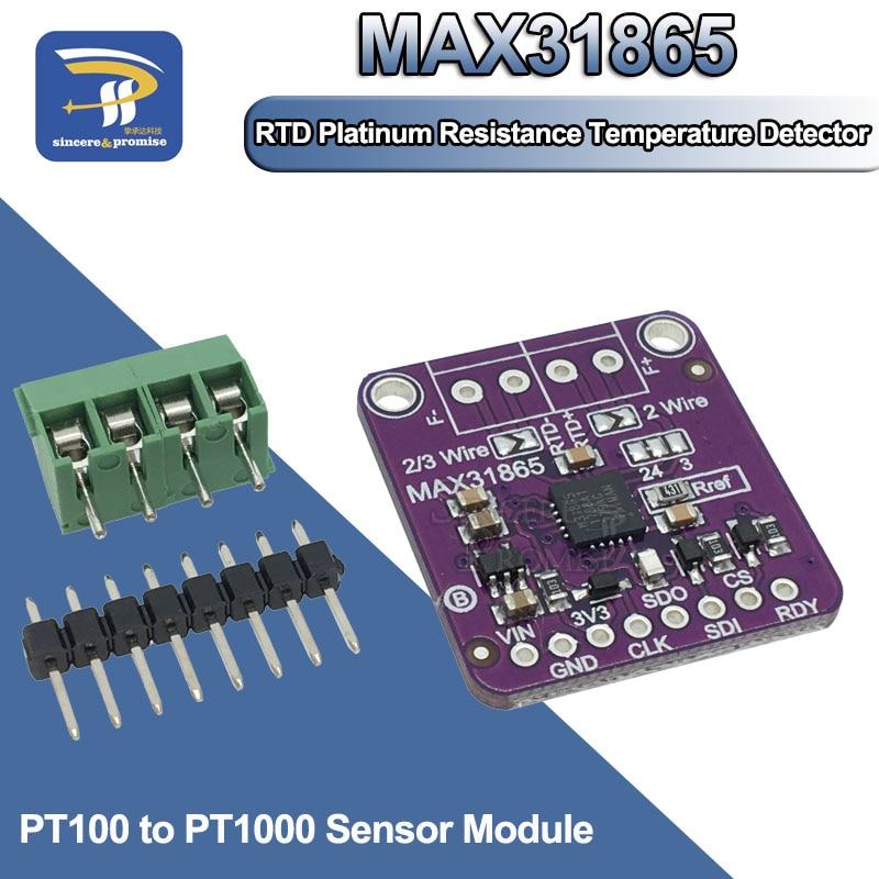 MAX31865 PT100 к PT1000 RTD-to-Digital плата преобразователя температуры термопары модуль усилителя датчика 3,3 V/5V для Arduino