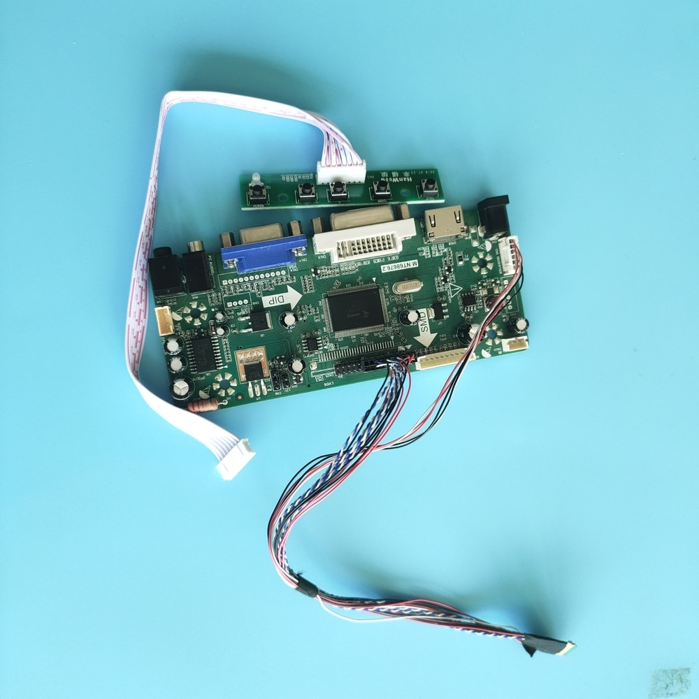 "Kit para N156B6-L06 m. nt68676 40pin 1366x768 led diy placa de controlador 15.6 ""dvi hdmi cmo display monitor painel lcd vga"