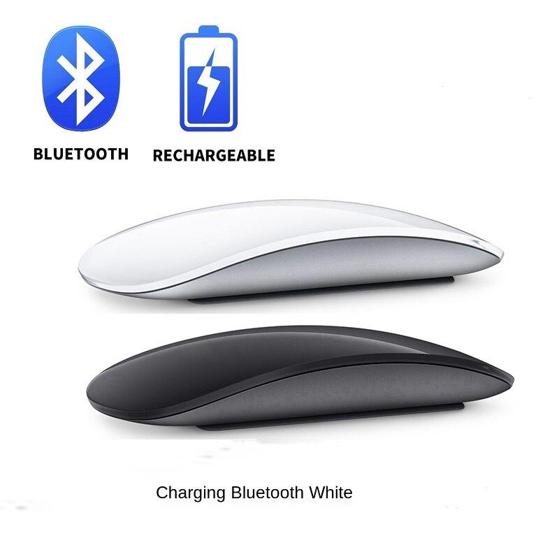 Мышь компьютерная беспроводная с Bluetooth, бесшумная перезаряжаемая лазерная, тонкие эргономичные компьютерные мыши для Apple Macbook, Microsoft