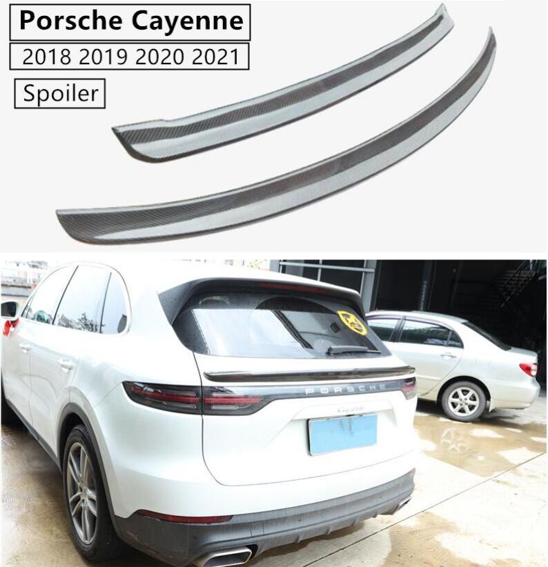 Carbon Fiber Spoiler For Porsche Cayenne 2018 2019 2020 2021 Wing Spoilers High Quality Car Modification Accessories