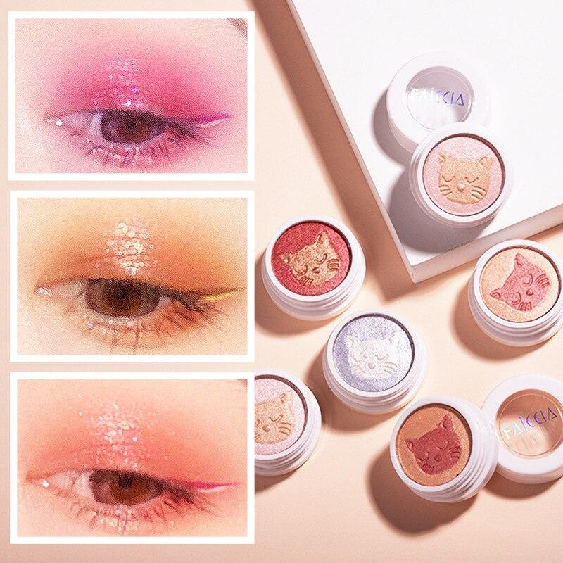 5 Color Eyeshadow Palette Long Lasting Shiny Matte Glitter Pigment Eye Shadow Palette Fruit Fashion Diamond Eye Makeup Palette profusion artistry palette eye and cheek