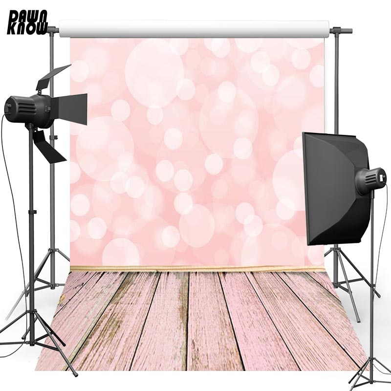 DAWNKNOW Shimmer Vinyl Photography Background For Baby Wood Floor New Fabric Polyester Backdrop For Wedding Photo Studio G677