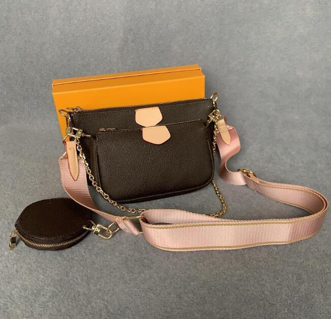 جلد امرأة حقائب فاخرة المصممين حقائب كروسبودي محفظة ظهره المحافظ حامل بطاقة حقيبة حقيبة كتف صغيرة 3-piece مجموعة