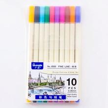 Guangna 6500-10 couleur Signature stylo métal couleur Album stylo peinture stylo Signature stylo peinture crochet ligne stylo