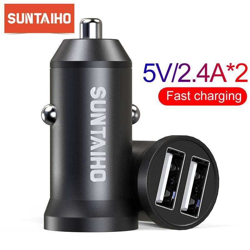 Suntaiho 5V 4,8 A Mini USB Auto Ladegerät Für iPhone iPad Samsung Handy GPS Schnelle Ladegerät Auto USB ladegerät Adapter Auto Ladegerät