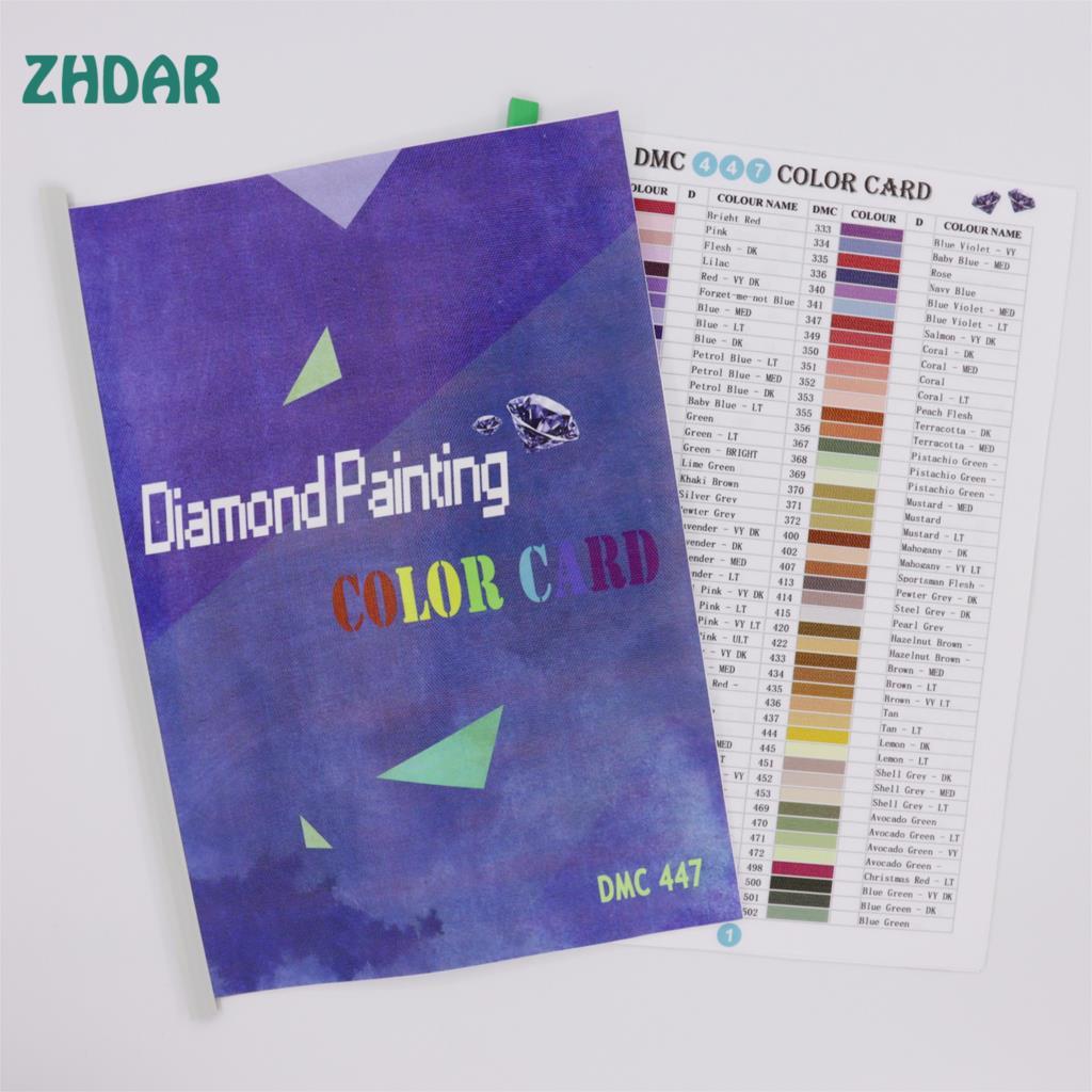 DIY Handmade 5D Diamond Painting Tool Range 447 DMC Diamond Color Card Rhinestone Color Identification Card HD Printing