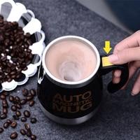 Новая автоматическая Магнитная чашка для самоперемешивания креативная чашка из нержавеющей стали для смешивания кофе и молока
