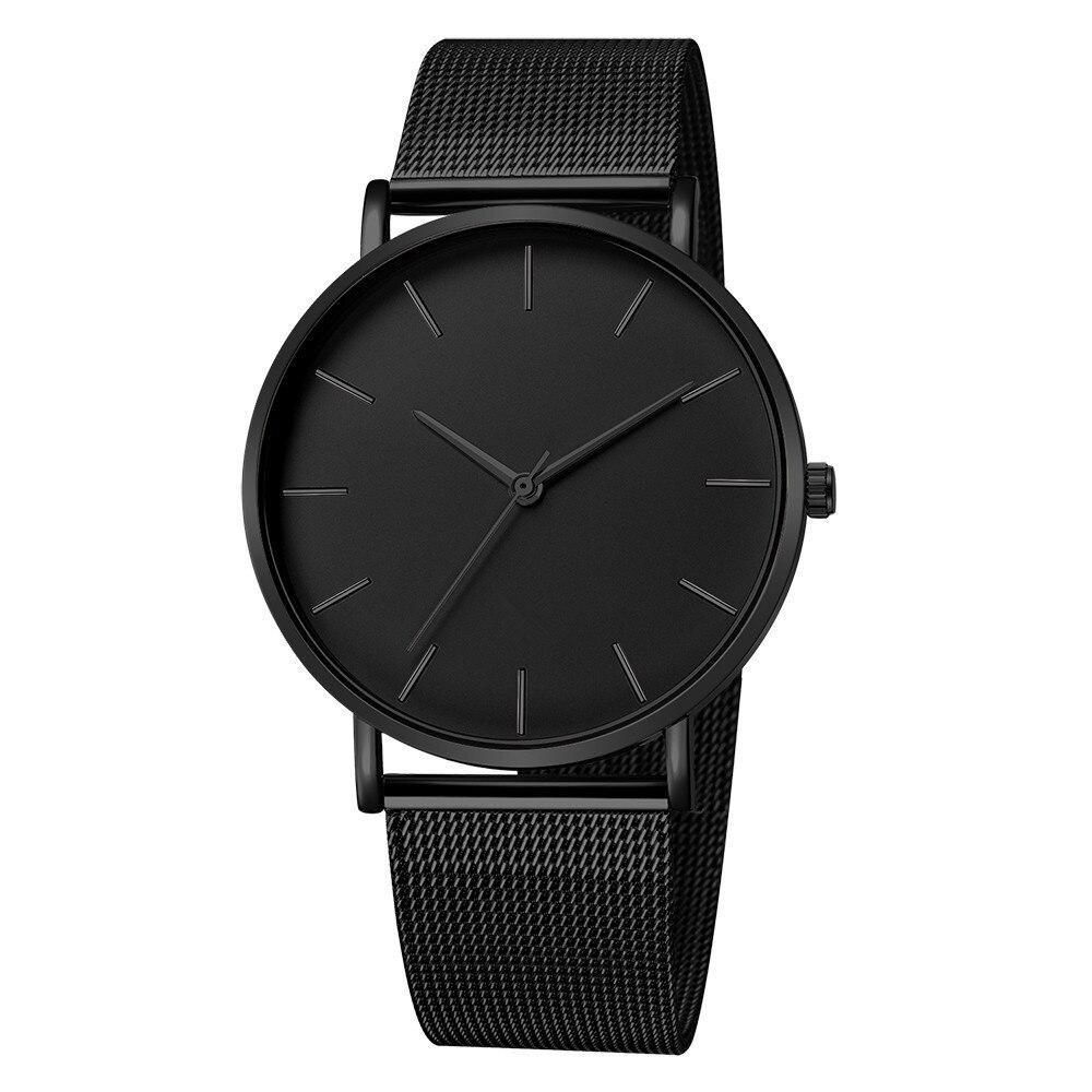 Relojes para hombre Acero inoxidable militar deporte fecha analógica reloj de pulsera de cuarzo relojes para hombre erkek kol saati montre homme
