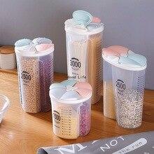 Kitchen food storage Cereal Dispenser Storage Box Rotating Dry Food Rice Container Storage Case Flour Grain Storage Bottle